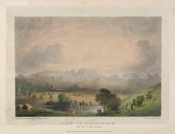 View of Wassortah. Plate 8 from 'Eight Most Splendid Views of India, sketched by an Officer in the Indian Army' published by Baron A Friedel in London in 1833.